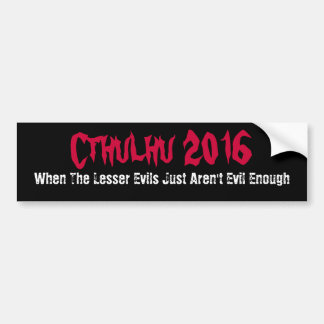 Funny Cthulhu 2013 Bumper Sticker