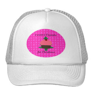 Funny cupcake christmas gifts trucker hat
