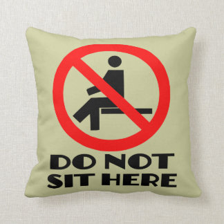 FUNNY cushion my sofa don t sit here Throw Pillows