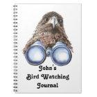 Funny Custom Bird Watching Journal for Birders
