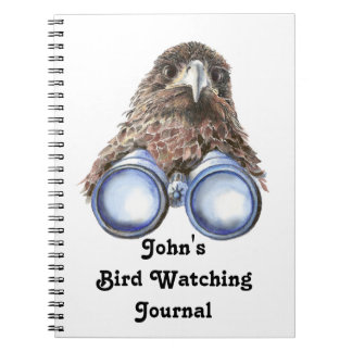 Funny Custom Bird Watching Journal for Birders Note Books