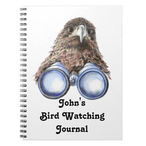 Funny Custom Bird Watching Journal for Birders Notebooks