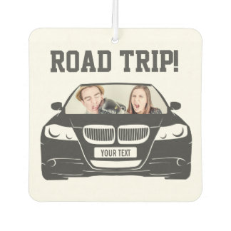 Funny Custom Car Photo Road Trip Car Air Freshener