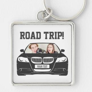 Funny Custom Car Photo Road Trip Key Ring
