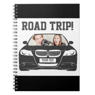 Funny Custom Car Photo Road Trip Notebook