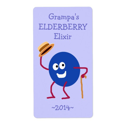 Funny Custom Elderberry Wine Labels