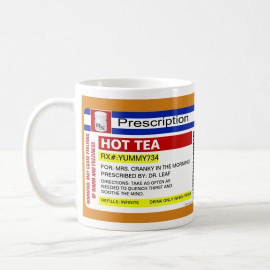Funny Custom Personalised Prescription Hot Tea Mug
