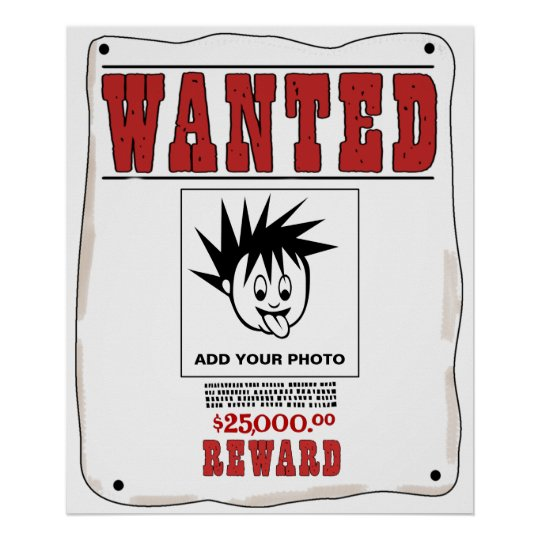 Funny Custom Wanted Poster