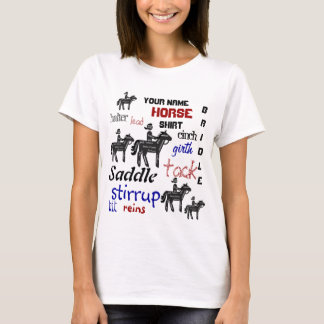 Funny, Custom, Your Name, Your Horseback Riding T-Shirt