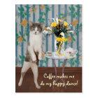 Funny Customisable Coffee Cat/Kitty Postcard