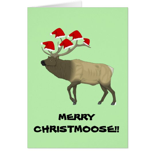 Funny Customisable 'Merry Christmoose' Xmas card