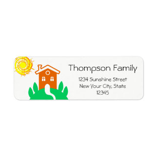 Funny customizable family home return address label