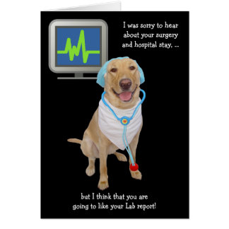 Funny Customizable Lab Report Get Well Greeting Card