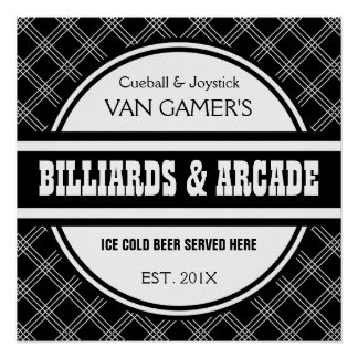 Funny Customized Home Games Room Pub Sign Poster