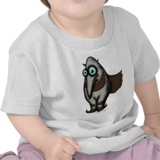 Funny cute anteater baby t-shirt design