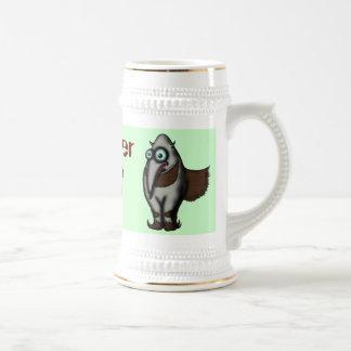 Funny cute anteater beer mug design