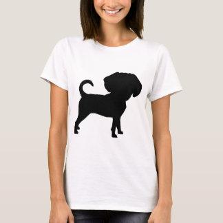 Funny Cute Big Head Puggle Dog T-Shirt
