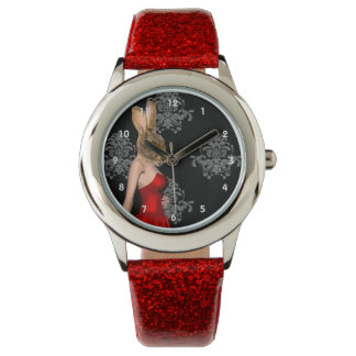 Funny cute bunny rabbit watch