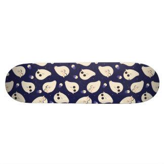 Funny cute chibi Halloween ghosts navy blue Custom Skate Board