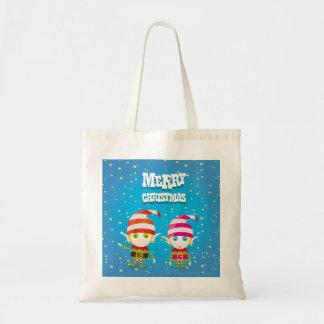 Funny Cute Christmas Elf Tote Bag