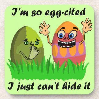 Funny Cute Easter Eggs Cartoon Coasters