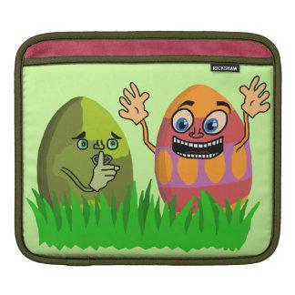 Funny Cute Easter Eggs Cartoon iPad Sleeve