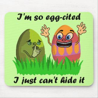 Funny Cute Easter Eggs Cartoon Mouse Pad
