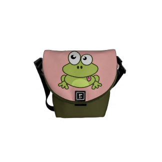 Funny cute frog cartoon kids commuter bags