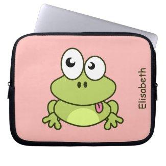 Cute Frog Laptop Sleeve