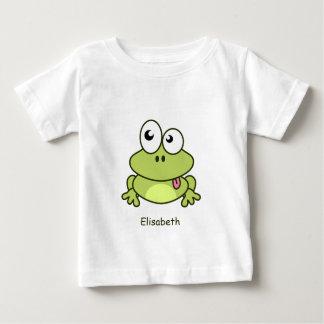 Funny cute frog cartoon name baby shirt