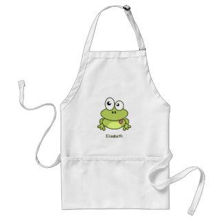 Funny cute frog cartoon standard apron