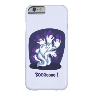Funny cute ghosts halloween cartoon barely there iPhone 6 case