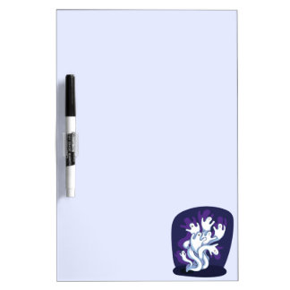 Funny cute ghosts halloween cartoon Dry-Erase whiteboards