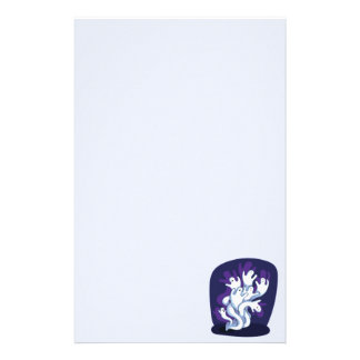 Funny cute ghosts halloween cartoon stationery