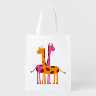 Funny Cute Giraffes, pink orange black gifts