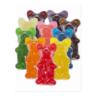 Funny Cute Gummy bear Herds Postcard