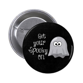 Funny, Cute Halloween Ghost; Get your Spooky On 6 Cm Round Badge