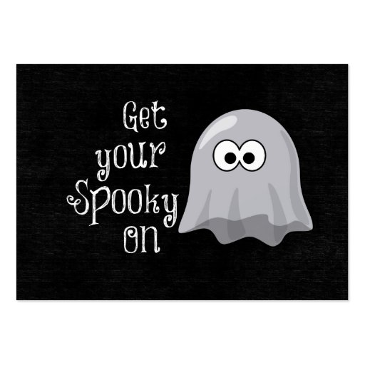 Funny, Cute Halloween Ghost; Get your Spooky On Business Cards