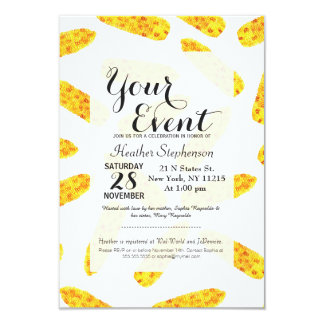 Funny Cute Hand Drawn Summer Corn on the Cob 9 Cm X 13 Cm Invitation Card