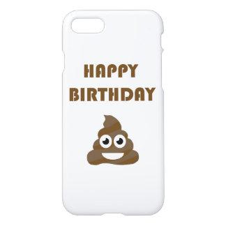 Funny Cute Happy Birthday Party Poop Emoji iPhone 7 Case