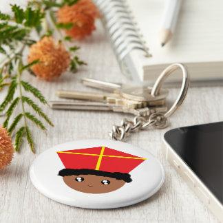 Funny Cute Kids Art St. Nicholas Zwarte Piet Key Ring