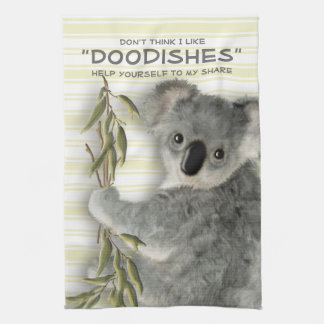 Funny Cute Koala Tea Towel
