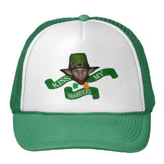 Funny cute leprechaun St Patrick s day Mesh Hat