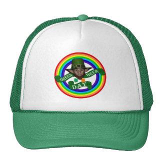 Funny cute leprechaun St Patrick s day Trucker Hat