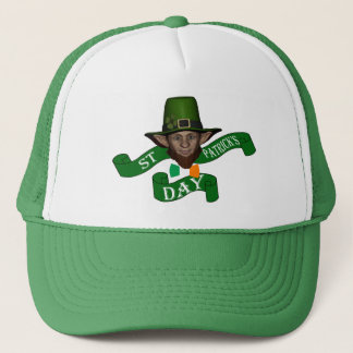 Funny cute  leprechaun  St Patrick's day Trucker Hat