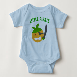 Funny Cute Little Pirate Baby Bodysuit