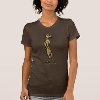 Funny cute meerkat graphic art t-shirt design