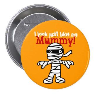 Funny Cute Mummy - Happy Halloween 7.5 Cm Round Badge