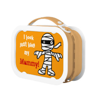 Funny Cute Mummy - Happy Halloween Lunch Box