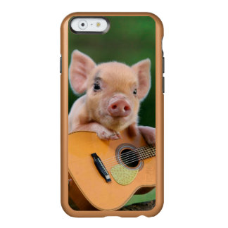 Funny Cute Pig Playing Guitar Incipio Feather® Shine iPhone 6 Case